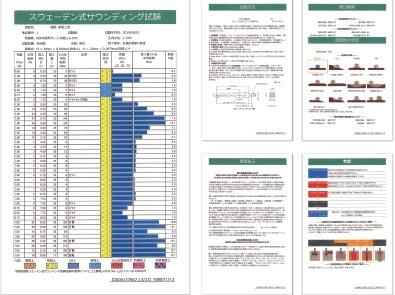 サウンディング試験(地盤調査)結果証明書
